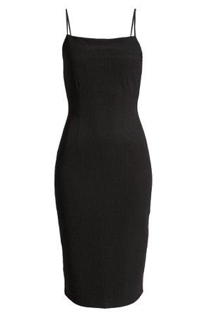 Open Edit Sleeveless Rib Ottoman Dress | Nordstrom