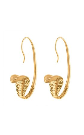 Rearing Cobra 18K Gold-Plated Earrings by Sewit Sium | Moda Operandi