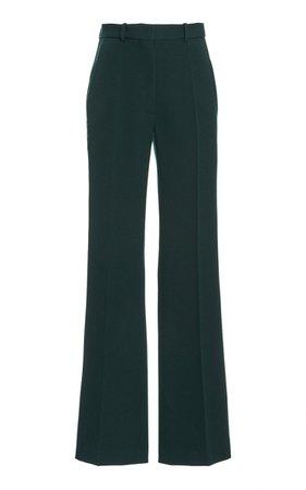 High-Rise Flared Wool Pants By Victoria Beckham   Moda Operandi