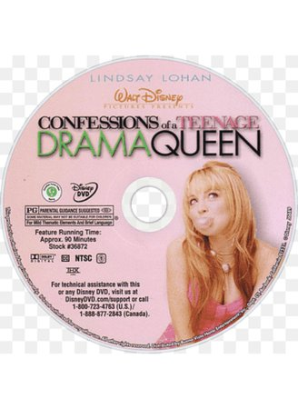 confessions of a teenage drama queen Y2k movie png dvd
