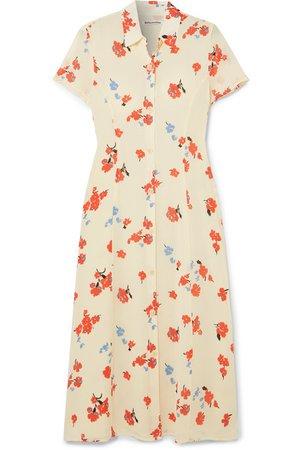 Reformation | Sheila floral-print georgette midi dress | NET-A-PORTER.COM
