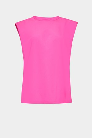 Shoulder Pad Crepe Tank Top   New Arrivals   French Connection Usa