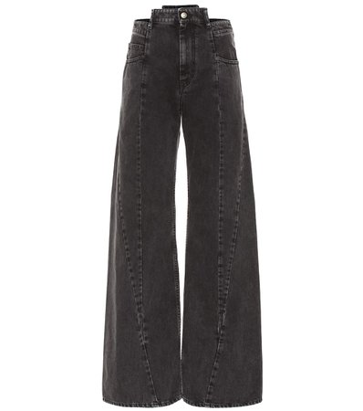 Maison Margiela - Cutout high-rise wide-leg jeans | Mytheresa