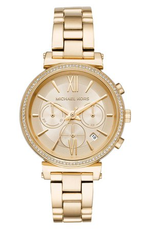 Michael Kors Sofie Chronograph Bracelet Watch, 39mm | Nordstrom
