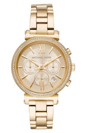 Michael Kors Sofie Chronograph Bracelet Watch, 39mm | Nordstrom