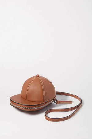 Cap Leather Shoulder Bag - Tan