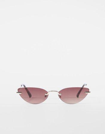 Солнцезащитные очки в безободковой оправе - Очки - Женщина | Bershka