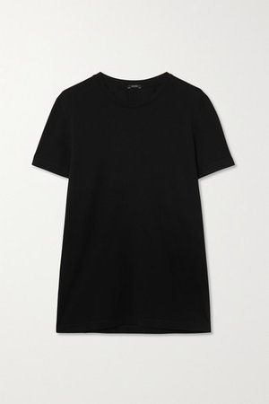 Cotton-jersey T-shirt - Black