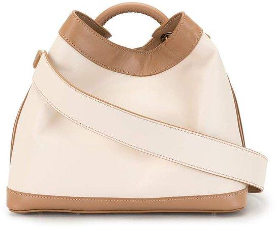 Raisin leather tote bag