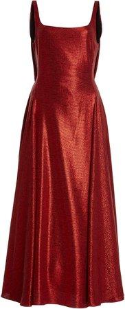 Emilia Wickstead Sephora Glittered Midi Dress