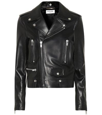Leather Biker Jacket - Saint Laurent | mytheresa.com