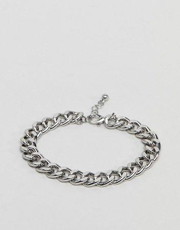 ASOS DESIGN midweight chain bracelet in silver tone | ASOS