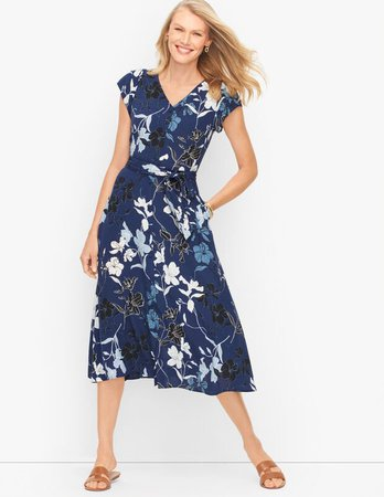 Midi Dress - Graphic Floral | Talbots