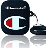 Amazon.com: Pamina for Champion Airpod 1/2 Case,Cute 3D Funny CartoonSilicone Protective Cover Accessories,Fun Lanyard Design Skin-Compatible with 1/2 Airpods Case(Black)