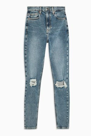 Greencast Ripped Jamie Skinny Jeans | Topshop