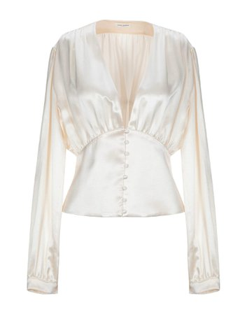 Saint Laurent Silk Shirts & Blouses - Women Saint Laurent Silk Shirts & Blouses online on YOOX United States - 38862822IV