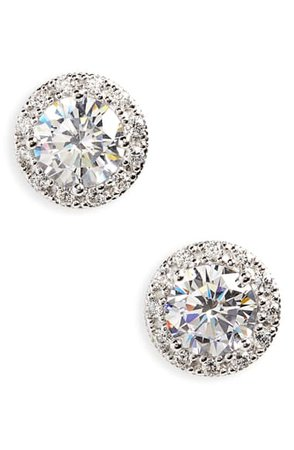 Nordstrom Pavé Cubic Zirconia Stud Earrings | Nordstrom