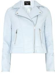baby blue leather jacket - Google Search