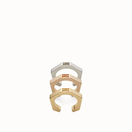 Three rings with a gold and palladium finish - BAGUETTE RINGS | Fendi