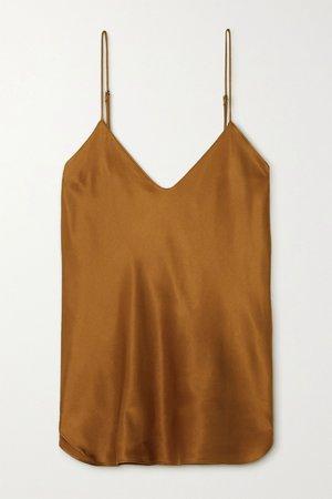 Gold Isabella silk-satin camisole | Nili Lotan | NET-A-PORTER