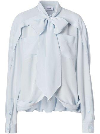 Burberry, tie-neck Silk Blouse