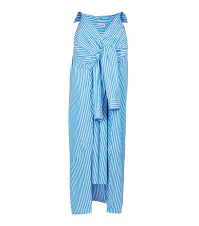 Balenciaga - Jupe longue rayée en coton   Mytheresa