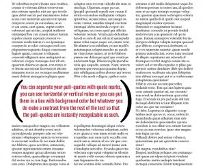 Pull-quotes in Magazine Design | Magazine Designing