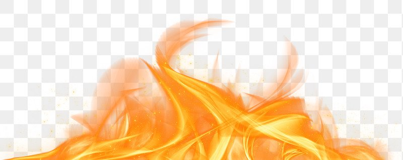 Retro png orange fire flame border   Free stock illustration   High Resolution graphic