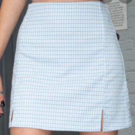 brandy cara skirt - light blue white