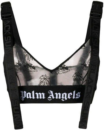 Palm Angels Island Mesh Bralette