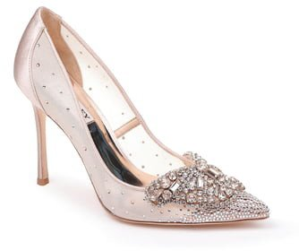 Quintana Crystal Embellished Pointed Toe Pump