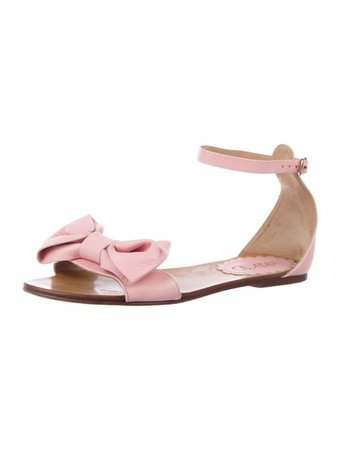Red Valentino Leather Ankle Strap Sandals - Shoes - WRE37920 | The RealReal