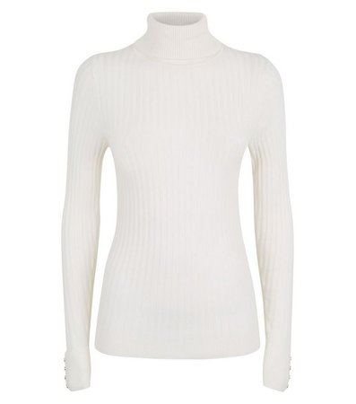 Off White Roll Neck Jumper | New Look