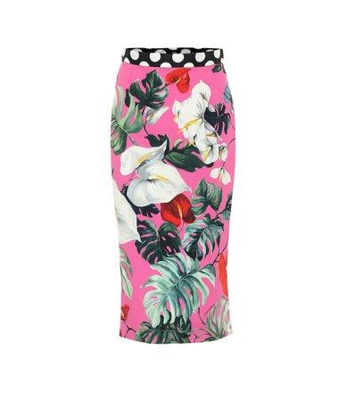 Dolce & Gabbana - Stretch-silk pencil skirt | Mytheresa