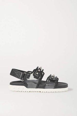 Garavani Rockstud Leather And Pvc Sandals - Clear