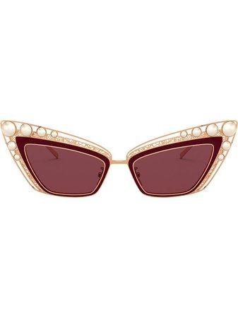 Dolce & Gabbana Eyewear Lunettes De Soleil à Monture Papillon - Farfetch