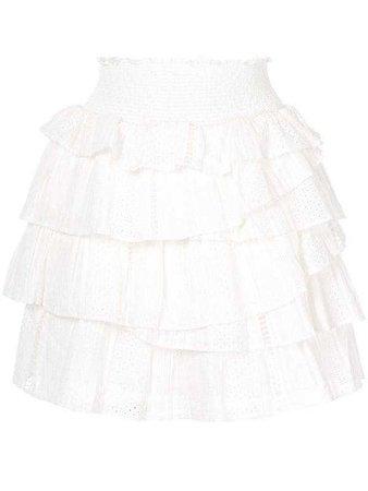 Aje White Skirt