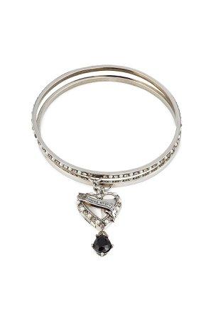 Heart Embellished Locket Bracelet Gr. M