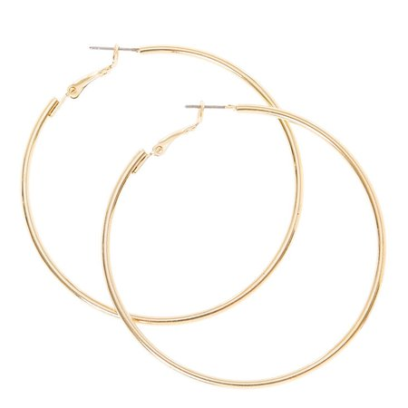 Gold 60MM Hoop Earrings | Claire's US