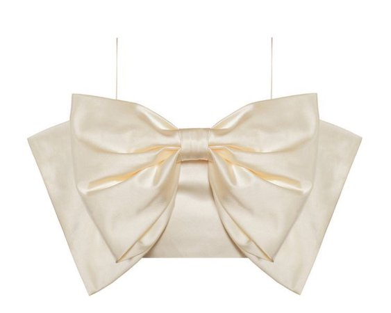 satin bow crop top