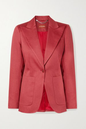Brick Elford linen blazer | Altuzarra | NET-A-PORTER
