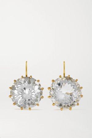 Gold 14-karat gold Rose de France amethyst earrings | Andrea Fohrman | NET-A-PORTER