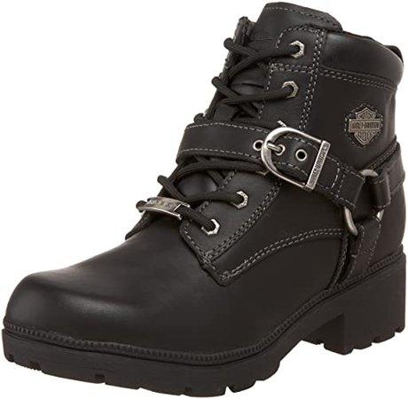 Amazon.com | Harley-Davidson Women's Tegan Ankle Boot, Black, 9 M US | Ankle & Bootie