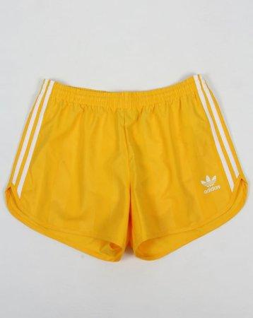 Adidas Originals Football Shorts Yellow - Shorts from 80s Casual Classics UK