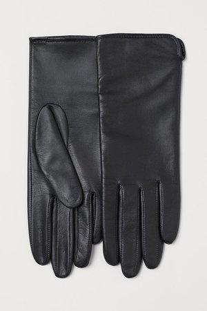Leather Gloves - Black - Ladies | H&M US