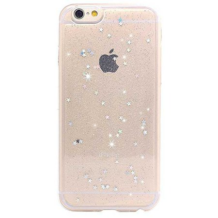 Amazon.com: iPhone 6 Case, iPhone 6s Case, BAISRKE Spark Glitter Shine Diamond Star Clear Transparent Soft TPU Back Cover for iPhone 6 6S (Normal 4.7 inches) - Clear: Clothing