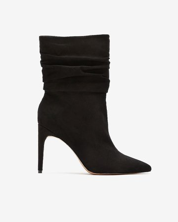 Slouch Heeled Booties