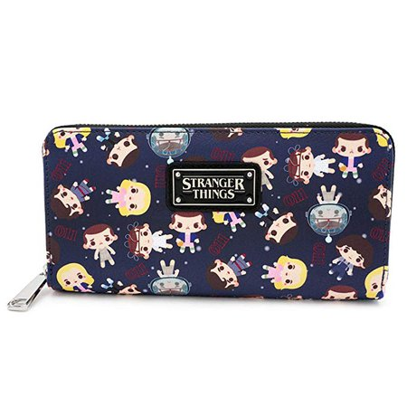 Loungefly Stranger Things Zip Around Wallet at Amazon Women's Clothing store