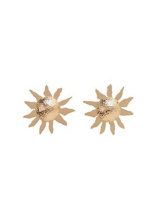 MANGO Metallic flower earring