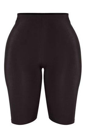 Shape Black Sheer Slinky Cycling Shorts | PrettyLittleThing